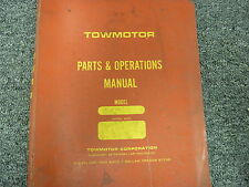 Towmotor 960P Forklift Lift Truck Parts Catalog & Owner Operator Manual Book