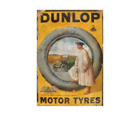 Dunlop Tyres Vintage Advertising Sign Metal Garage Shed Workshop Retro Plaque