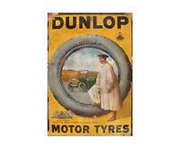 Dunlop Tyres Vintage Advertising Sign Metal Garage Shed Workshop Retro Plaque
