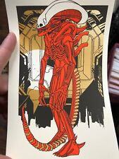 Tyler Stout Alien Xenomorph II left facing handbill poster Sigourney Weaver