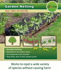Grow Tunnel Net Plant Cover Black - Lasting Protection Against Birds, Deer
