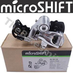 microSHIFT R10 Road Bike Rear Derailleur 9 or 10 Speed Medium Cage
