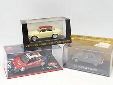 Ixo Presse 1/43 - Lot de 3 : Citroen 2CV - Citroen Xsara WRC - Simca Aronde P60