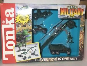 RARE- NEW 1991 TONKA SUPER MILITARY 11 Piece Army PLAY SET # 2010