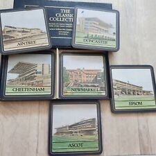 Classic Collection 6 Vtg Horseracing Racecourse Coasters Drink Mats Vtg