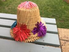 Bucket Straw Original Vintage Hats for Women