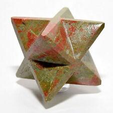 "2.6"" Natural Unakite 8 Point Merkaba Star Polished Gemstone Crystal from China"