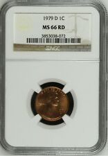 1979 D Lincoln Cent NGC MS 66 RD