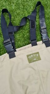 ORVIS TROUT SALMON FLY FISHING CHEST WADERS USED XL REPAIRED see description