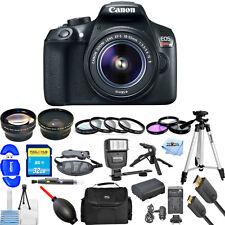 Canon EOS Rebel T6 DSLR Camera with 18-55mm Lens (Black) USA MODEL NEW PRO KIT!!