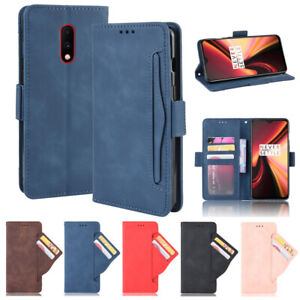For OnePlus 7 Pro Leather Wallet Card Holder Stand Flip Cover Shockproof PU Case