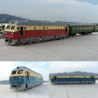1:87 Model Train Alloy Pull Back Double Train Carriage Trailer Locomotive Wagon