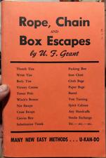 """RARE OLD MAGIC BOOK 24 """"ROPE, CHAIN & BOX ESCAPES """" U F GRANT -See List on Cover"""