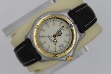 Tag Heuer WI2150 Automatic 18K Gold Watch Mens SEL Leather SS Link White Mint