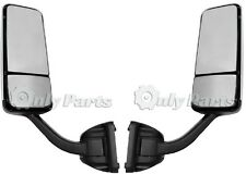 Freightliner Cascadia Mirrors Pair Driver and Passenger Side Chrome Power Heated