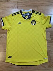 Adidas MLS COLUMBUS CREW SC HOME AUTHENTIC JERSEY Sz M BNwT GE1404 Soccer