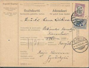 FINLAND ✱ 1924 PARCEL CARD ✱ Jyväskylä to Pihtipudas ✱ [1285]