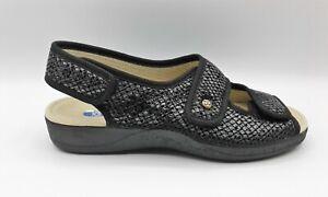 Ladies Adjustable Sandal - DeValverde 170 Negro (3 Points Adjustment)