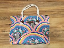 """Rip Curl Colorful 14"""" x 20"""" x 6"""" cool looking sturdy Beach Bag with rope straps"""