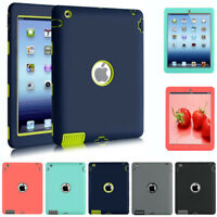 New Heavy Duty Armor Rugged Skin Case Cover For Apple ipad 2/3/4 2nd 3rd 4th Gen