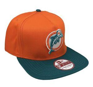 Miami Dolphins Retro Logo NFL New Era 9FIFTY A-Frame Snapback Cap NWT Size M/L