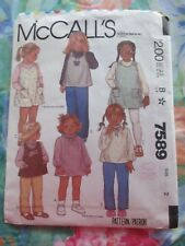 McCALL'S VINTAGE 80's SEWING PATTERN #7589 ~TODDLERS  DRESS & TOP