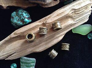 Viking Dread Beard Beads 5x Celtic Triquetra Bronze Tone 6mm Hole Hair Braid Uk