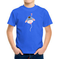 Toddler Kids Tee Youth T-Shirt Gift Cute Eeyore Love Balloon Donkey Gloomy 2T~XL