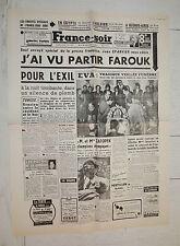 FAC-SIMILE A LA UNE JOURNAL FRANCE SOIR 29/07 1952 MORT EVITA  PERON ARGENTINE