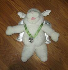 "15"" Shari Lewis Baby Lamb Chop Angel w/ Silver Wings Hand Puppet Plush Lambchop"