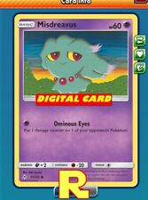 4x Misdreavus (60 HP) - for Pokemon TCG Online (DIGITAL ptcgo in Game Card)