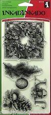 INKADINKADO EVERGREEN HOLIDAY Christmas Clear Stamps 60-31153