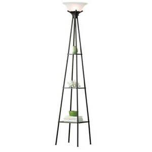Tall Modern Metal Shelf Floor Lamp Display Home Living Room Decor Accent 69 inch