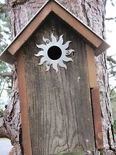 "Bird House Accessories 20 gauge sunburst with a 1 1/4"" opening"