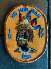 BOY SCOUT PATCH HO NON WAH 1977 ITEM #3740