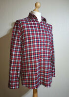 Jack Wills Plaid Flannel Shirt Mens Size M Red/Blue/White Long Sleeve