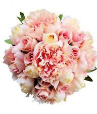 Pink Peony Bridesmaid Bouquet- Silk Flowers Bouquet Peony Wedding Bouquet