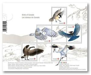 2018 CANADA Post 📭🦅🕊🦉 BIRDS Souvenir Sheet 🦅🕊🦉📬