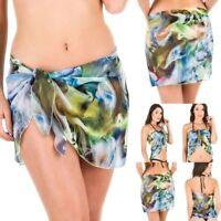 Coqueta Swimwear Chiffon Cover up Beach Sarong Pareo Canga Swimsuit Wrap Boho