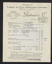 """LE HAVRE (76) USINE de PATE ALIMENTAIRE SEMOULE TAPIOCA """"BERTRAND & Cie"""" en 1915"""