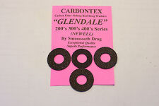 NEWELL / GLENDALE CARBONTEX UPGRADE DRAG WASHERS FOR 200, 300, 400 SERIES REELS