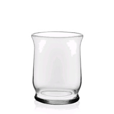 Libbey Adorn Hurricane Glass Table Vase Set of 6 - Free Shipping-