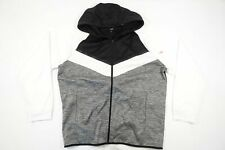 IDEOLOGY ID BLACK WHITE 2XL FULL ZIP ATHLETIC TRACK JACKET HOODIE SWEATER DEFECT