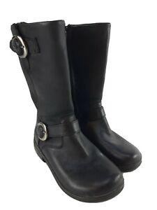 Alegria Cami Black Magic Mid Calf Motorcycle Boots Black Leather Euro 35 US 5.5