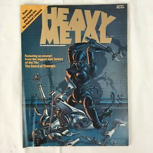 Heavy Metal Magazine #1 April 1977 Nicollet Cover Corben Moebius Adult Fantasy