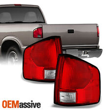 Fit 94-04 S10 Somona 96-00 Hombre Red Clear Tail Lights Brake Lamps Replacement