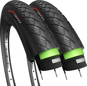 Fincci Pair 700 x 38c Tyres Antipuncture for Electric Road Mountain Bike Bicycle
