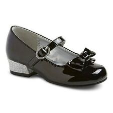 NWT Special Occasion Dress Shoes Cherokee Keisha Black Patent Bow 5 6 7 8 9 11