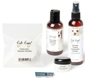 Eye Envy Pet Dog NR Beard and Tear Stain Remover Cleaner Pack