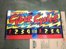 namco cyber cycles arcade plexiglass sign marquee